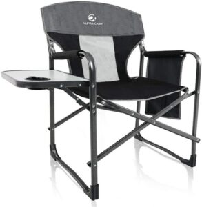 ALPHA CAMP Oversized Collapsible Camping Director Chair