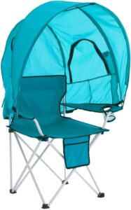 BrylaneHome Camp Chair with Canopy Shade