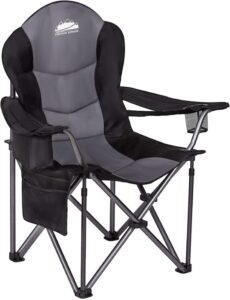 Coastrail Outdoor Camping Chair with Lumbar Back Support