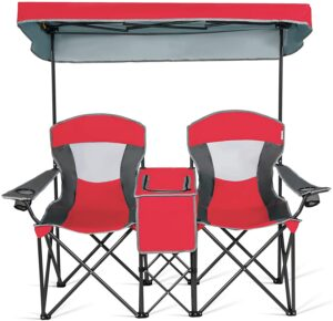 Goplus Double Camping Seat w/Shade
