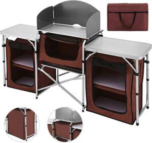 Happybuy Portable Camping Kitchen Table