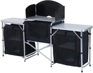 Outsunny 6' Aluminum Portable Fold-Up Camping Kitchen