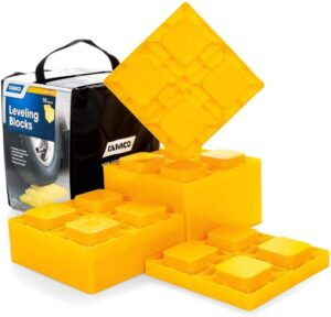 Camco 44510 Heavy Duty Leveling Blocks, Ideal for Leveling Single and Dual Wheels