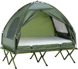 Outsunny Extra Large Portable Folding Camping Cot Tent